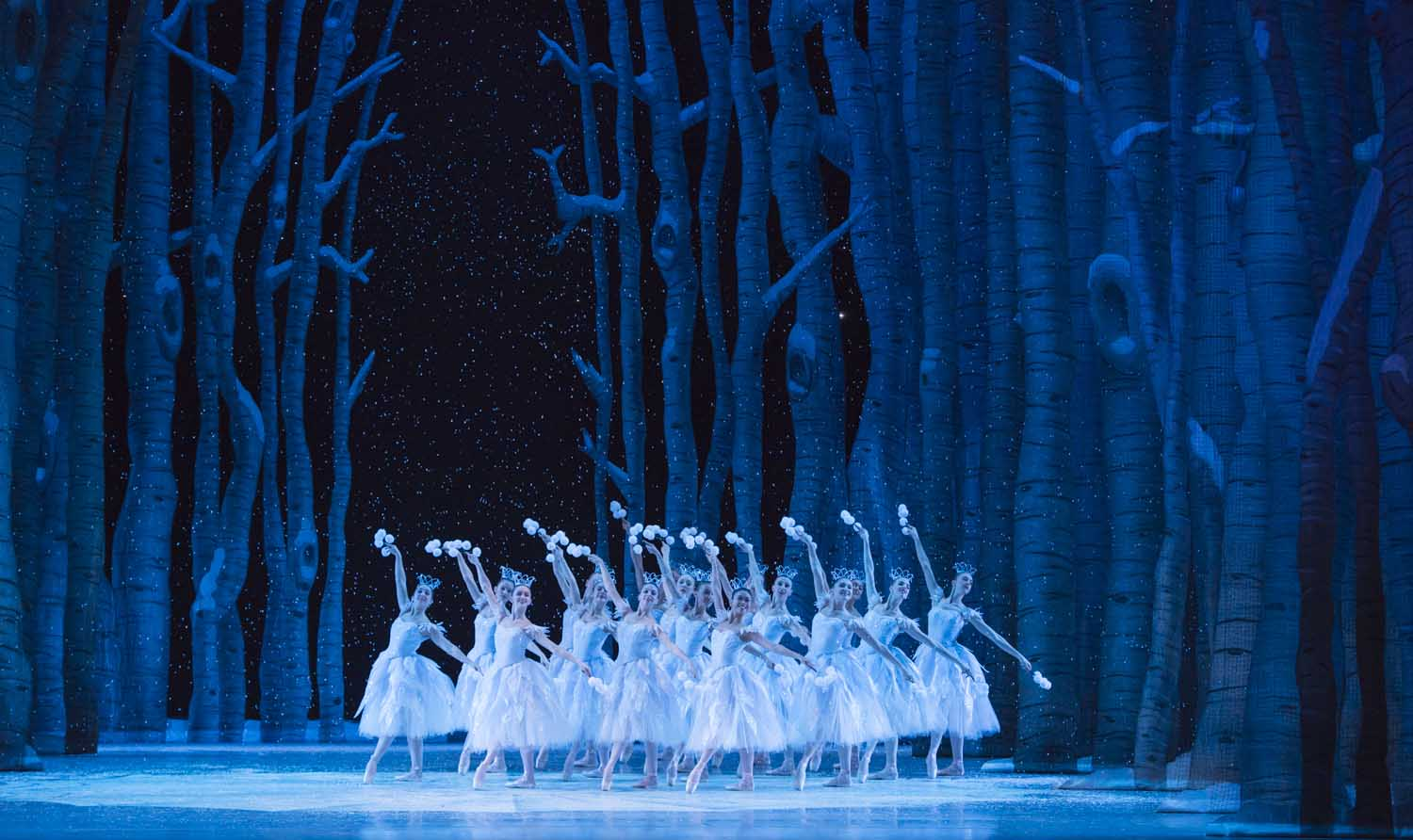 Snow scene from George Balanchine's The Nutcracker™, © The George Balanchine Trust. Photo © Elise Bakketun.