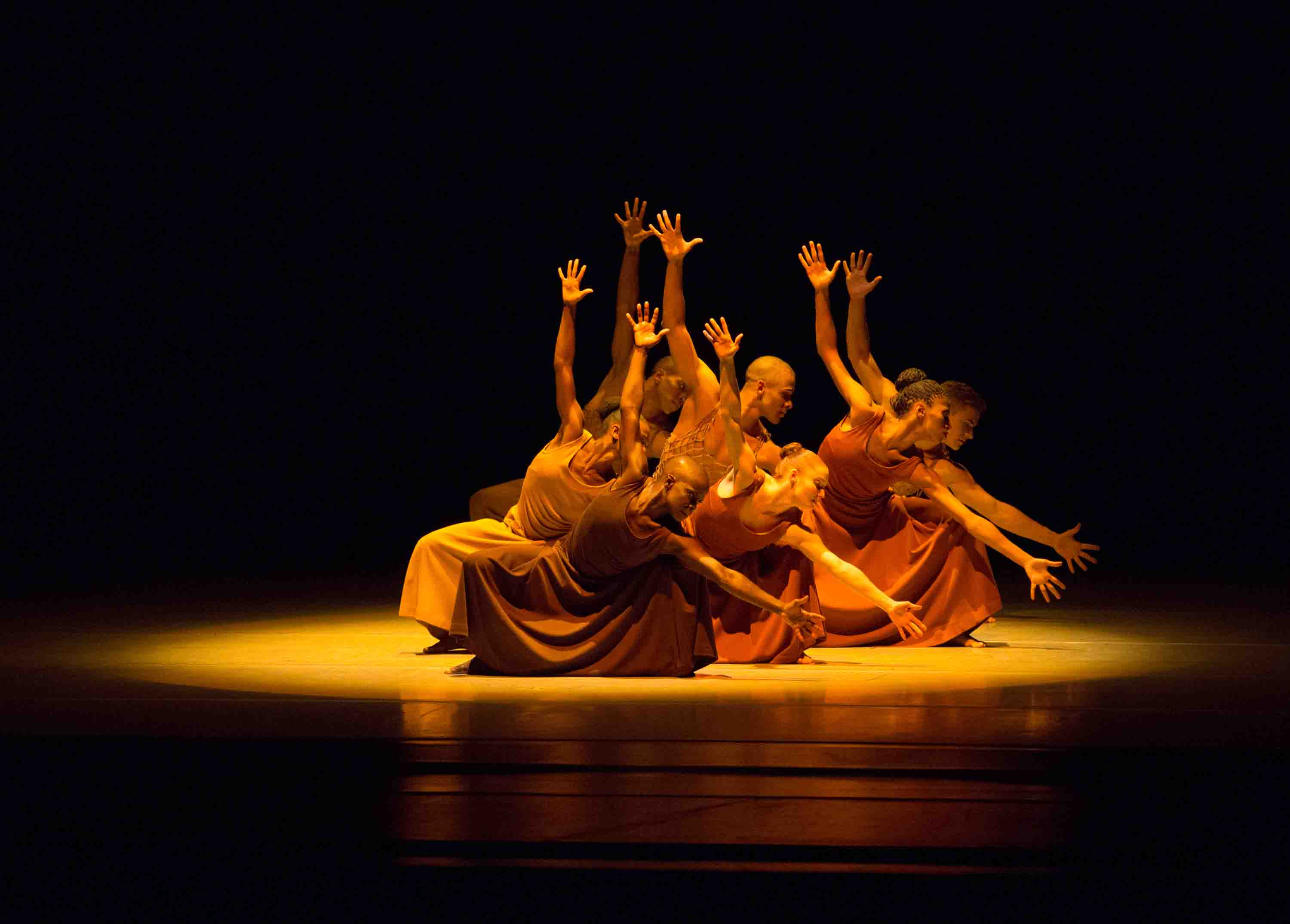 Alvin Ailey American Dance Theater in Revelations. Photo ©Rosalie O'Connor