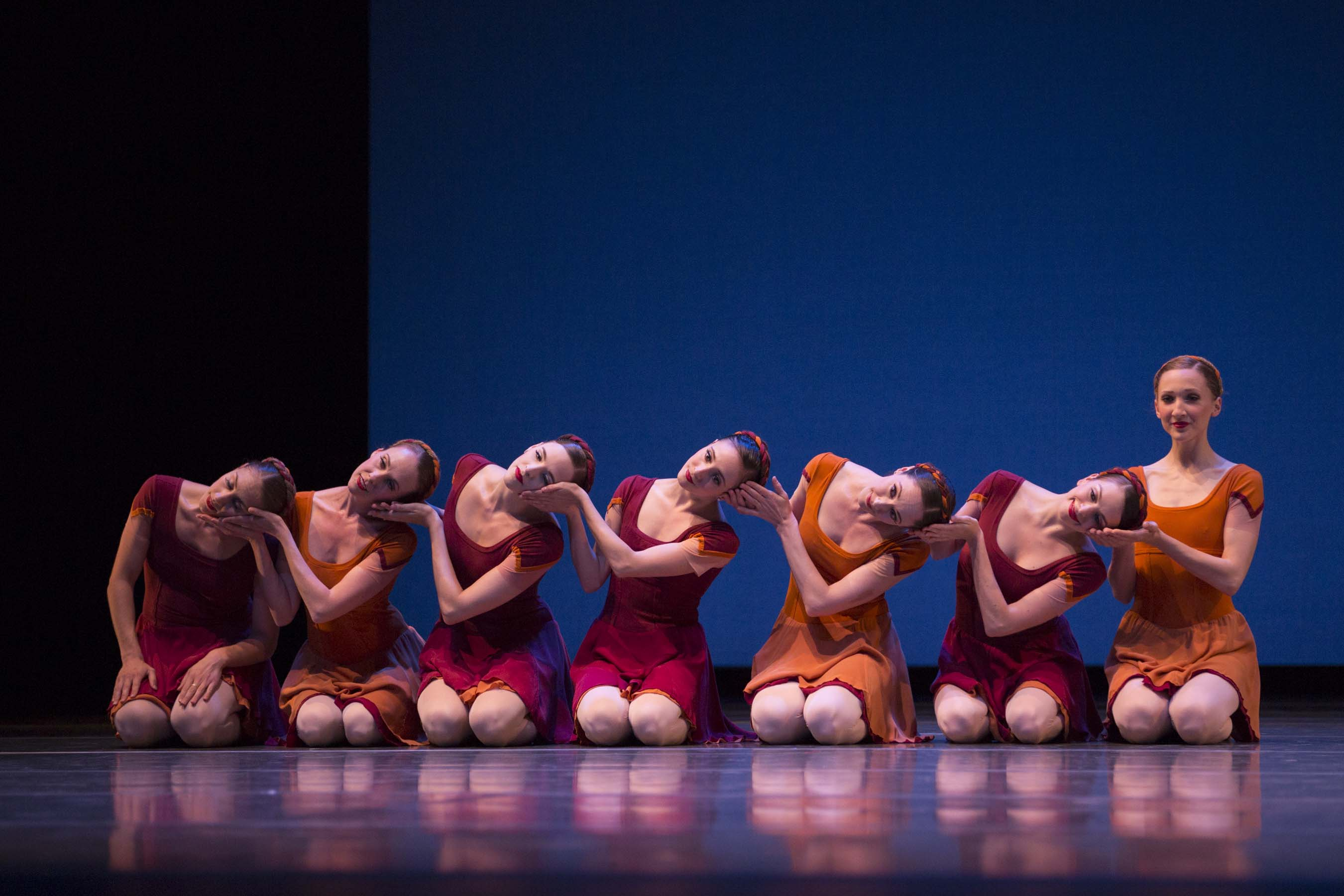 Pacific Northwest Ballet company dancers in Alexei Ratmansky's Concerto DSCH. Photo © Angela Sterling.