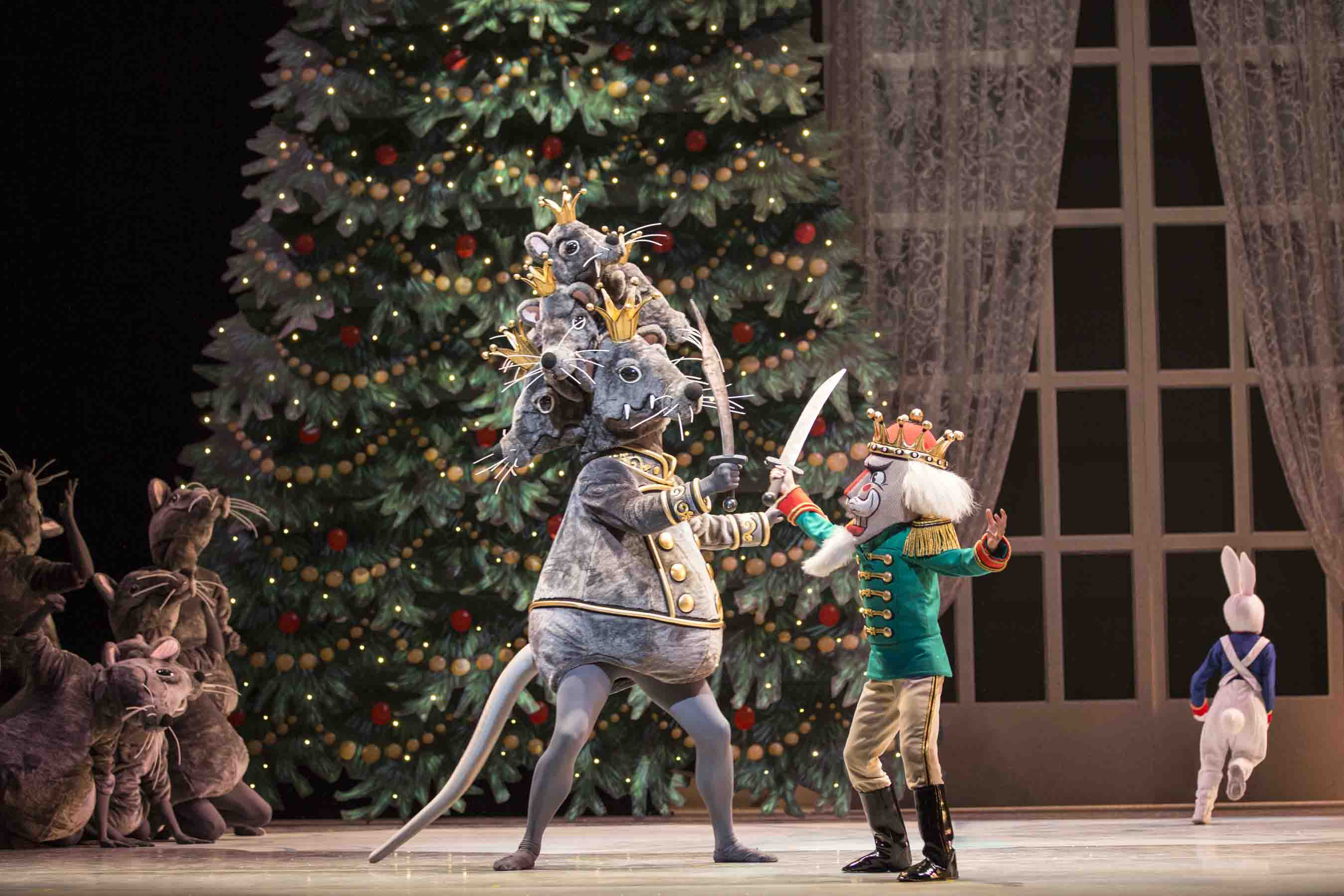 Joshua Grant and Joh Morrill in George Balanchine's The Nutcracker™, © The George Balanchine Trust. Photo © Angela Sterling