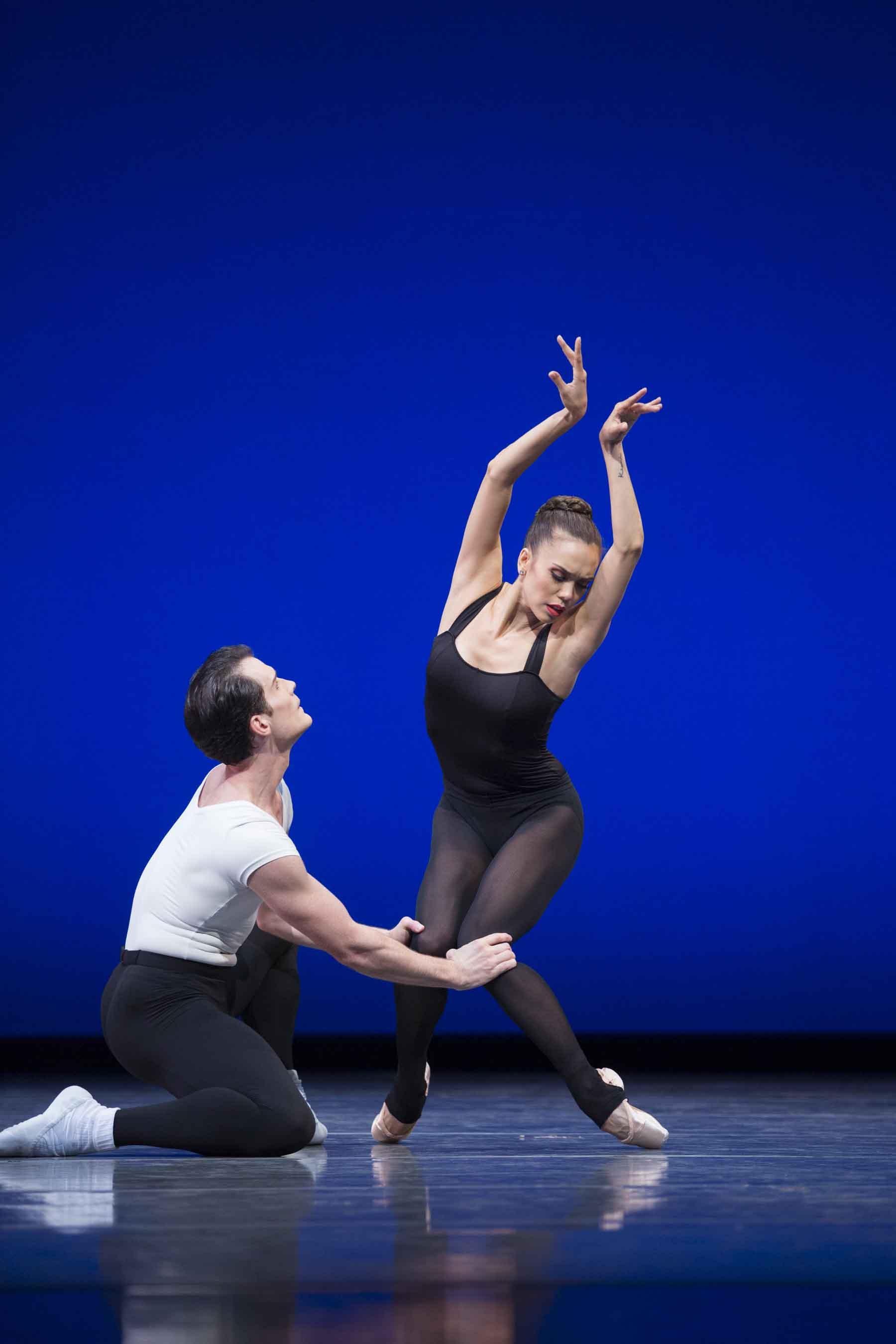Seth Orza and Noelani Pantastico in Balanchine's Stravinsky Violin Concerto. Photo © Angela Sterling